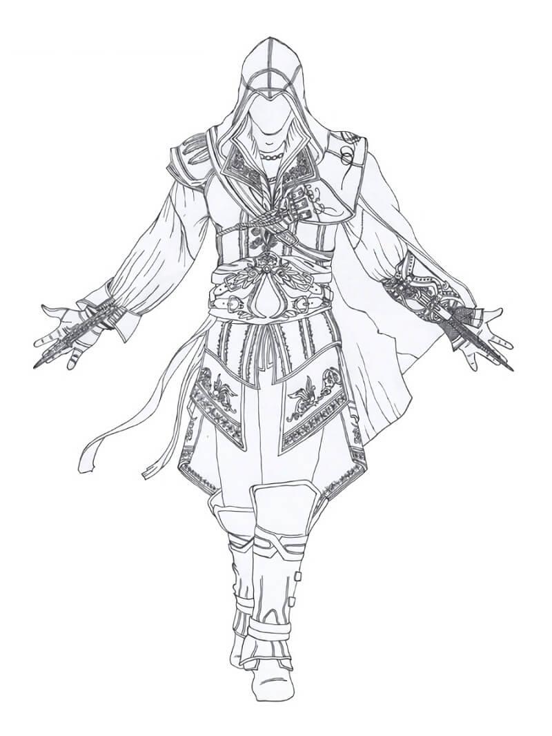 Desenhos de Assassin's Creed 1 para colorir