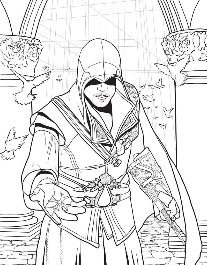 Desenhos de Assassin's Creed 10 para colorir