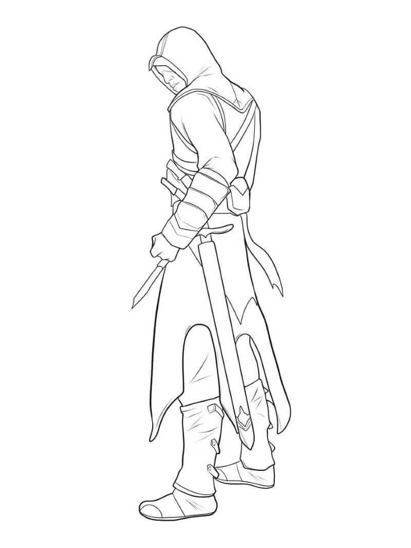 Desenhos de Assassin's Creed 11 para colorir