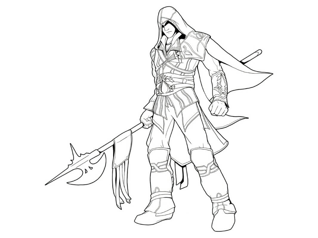 Desenhos de Assassin's Creed 12 para colorir