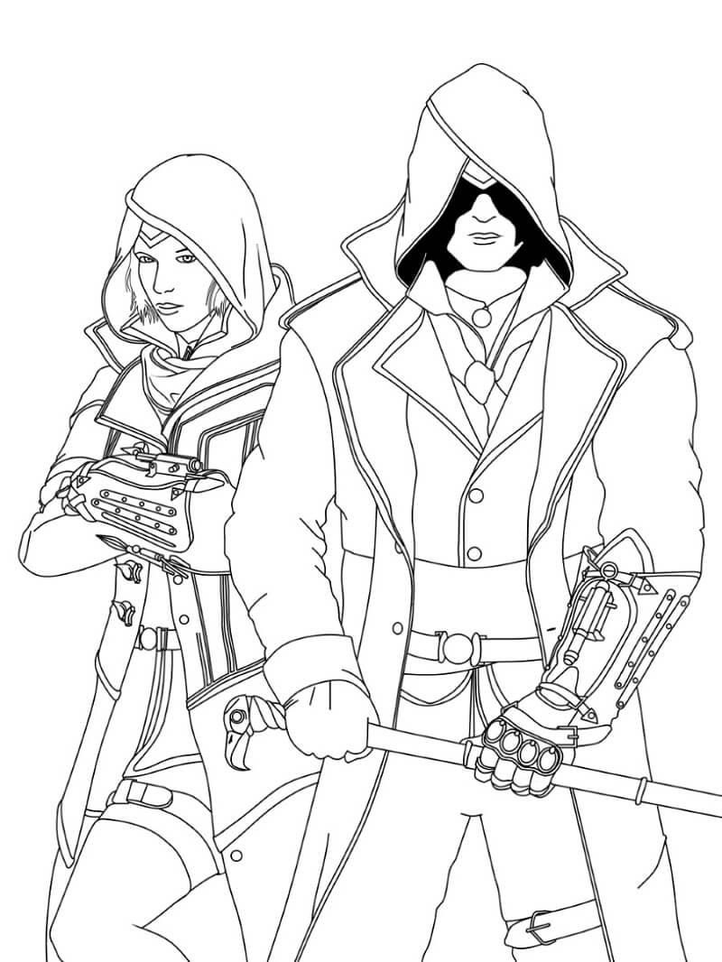Desenhos de Assassin's Creed 13 para colorir