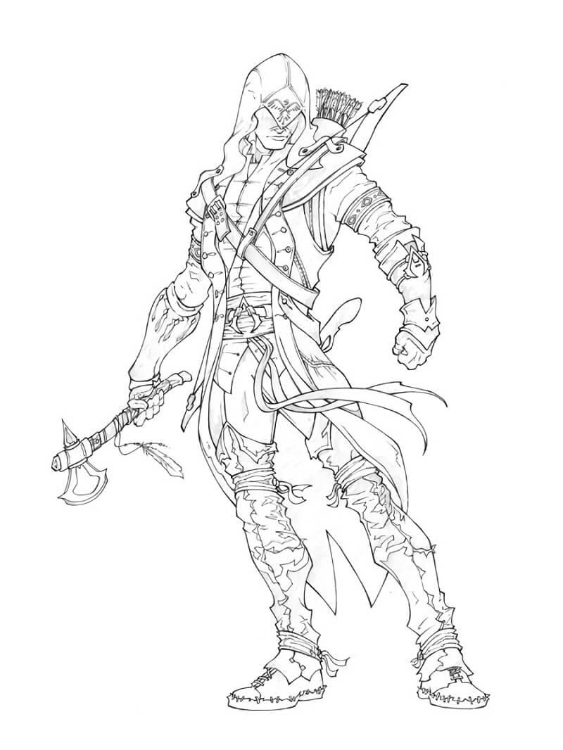 Desenhos de Assassin's Creed 14 para colorir