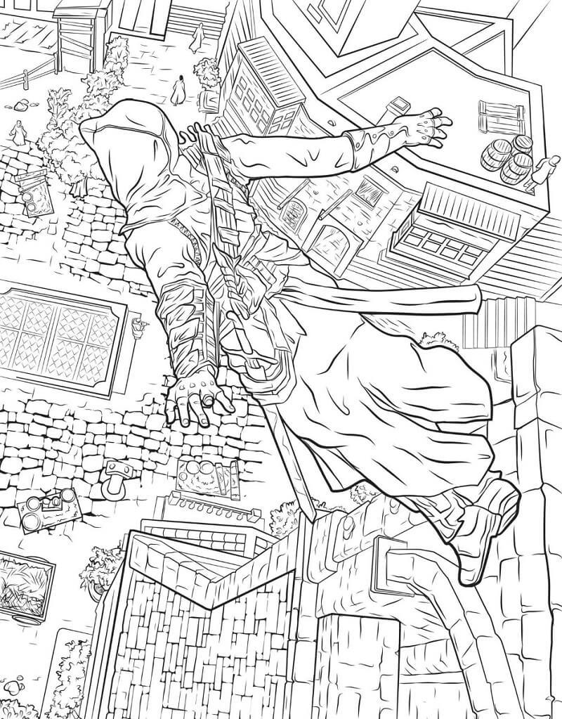 Desenhos de Assassin's Creed 15 para colorir