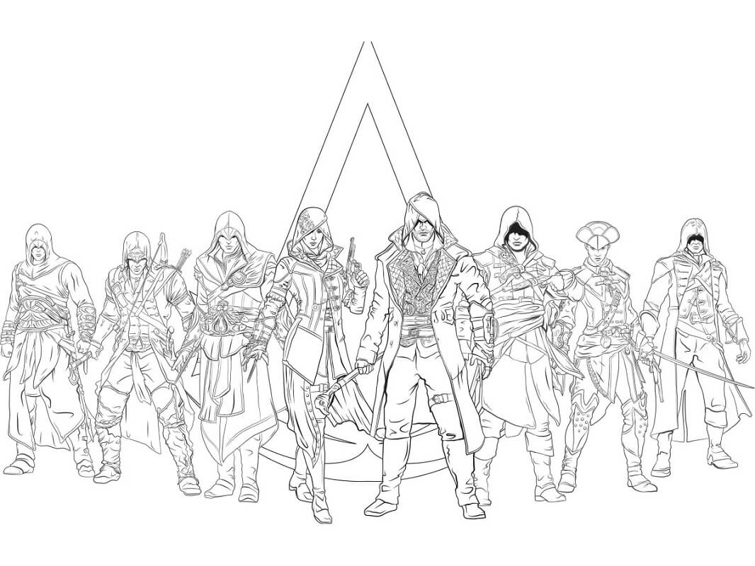 Desenhos de Assassin's Creed para Colorir