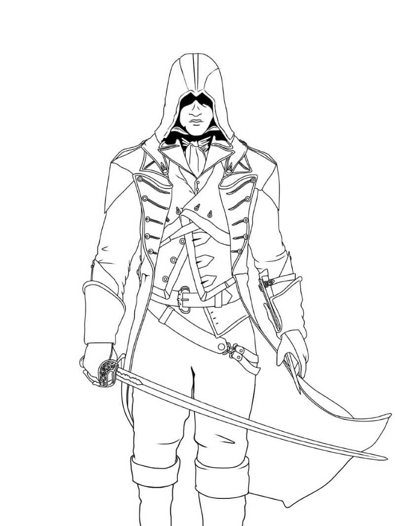 Desenhos de Assassin's Creed 17 para colorir