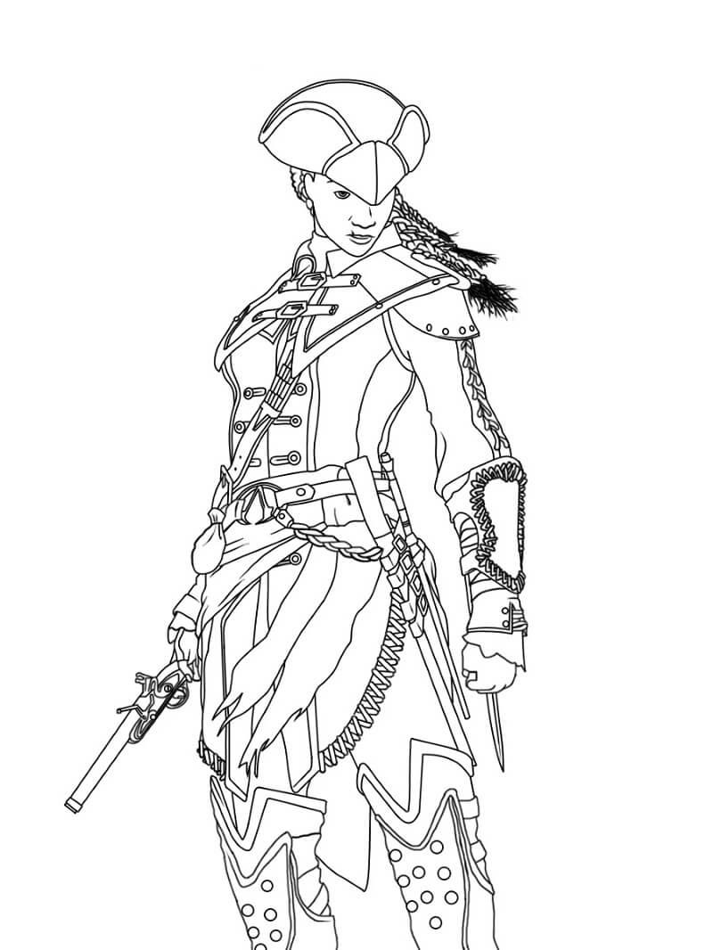 Desenhos de Assassin's Creed 18 para colorir