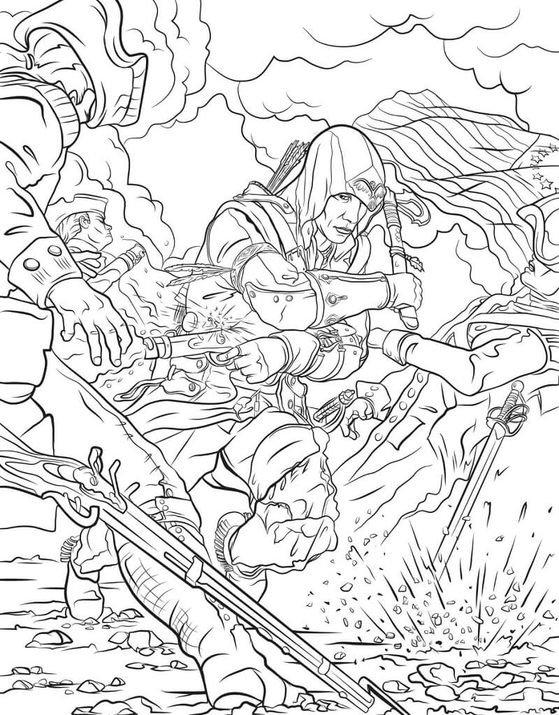 Desenhos de Assassin's Creed 19 para colorir