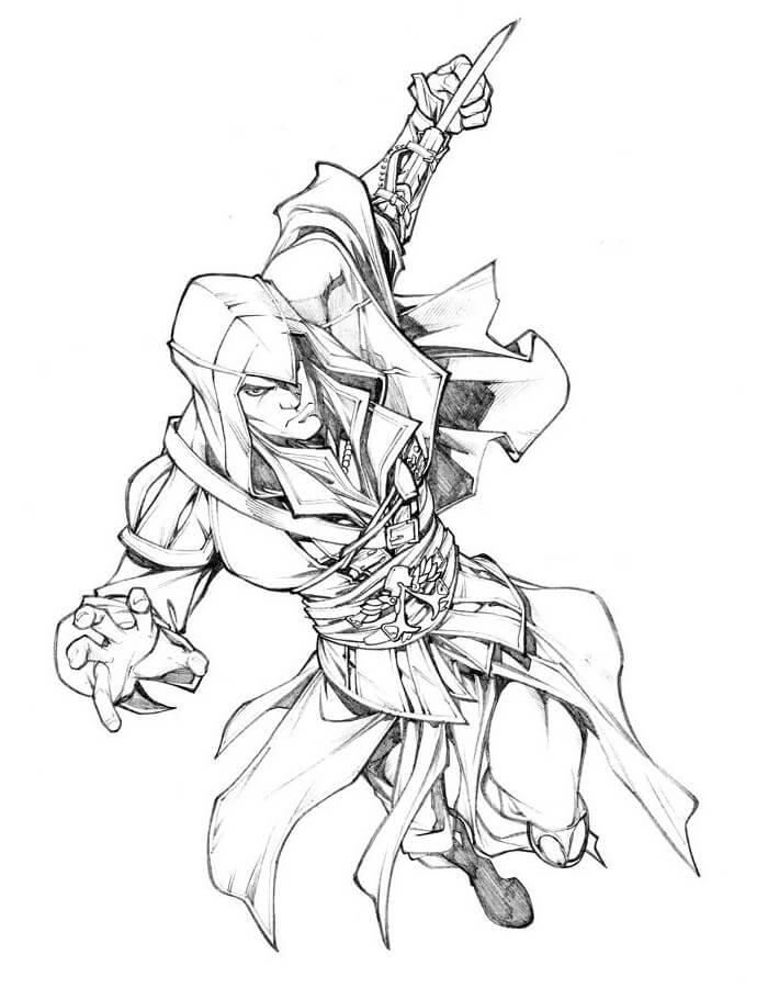 Desenhos de Assassin's Creed 2 para colorir
