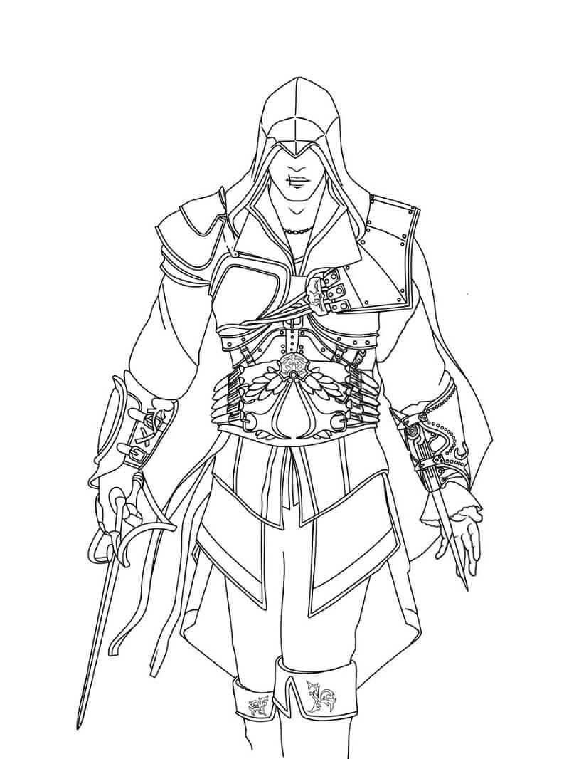 Desenhos de Assassin's Creed 3 para colorir