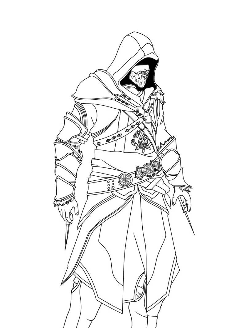 Desenhos de Assassin's Creed 4 para colorir