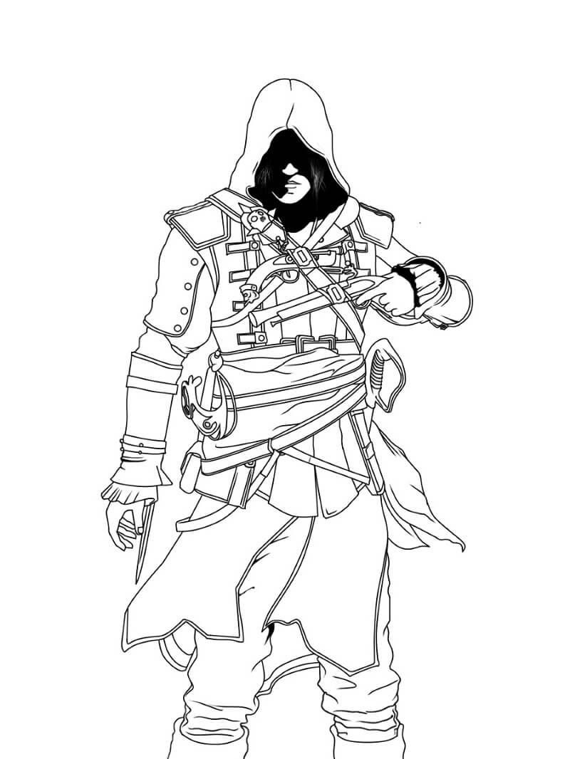 Desenhos de Assassin's Creed 5 para colorir
