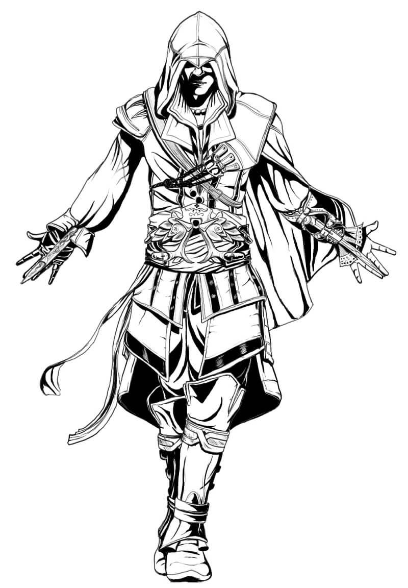 Desenhos de Assassin's Creed 6 para colorir