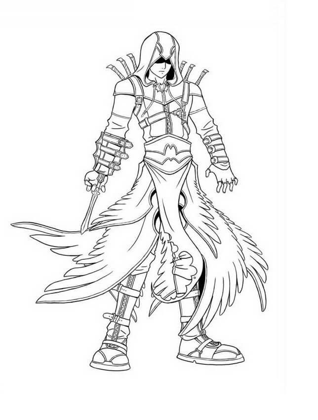 Desenhos de Assassin's Creed 7 para colorir