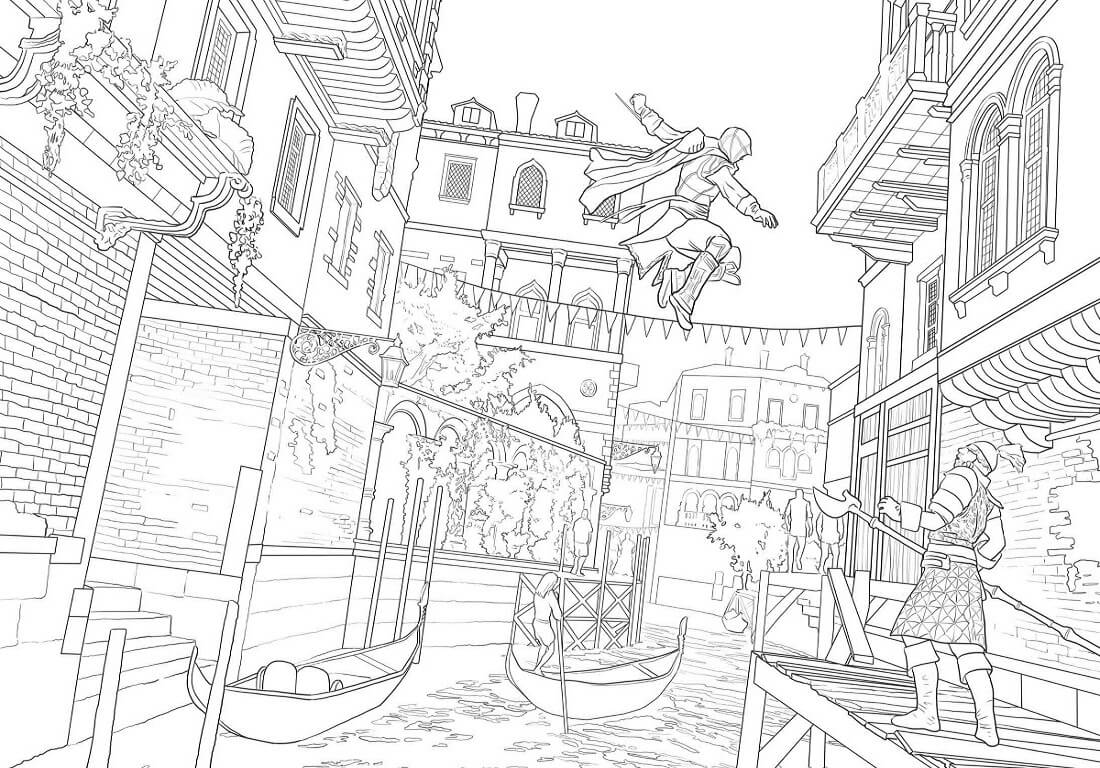 Desenhos de Assassin's Creed 8 para colorir