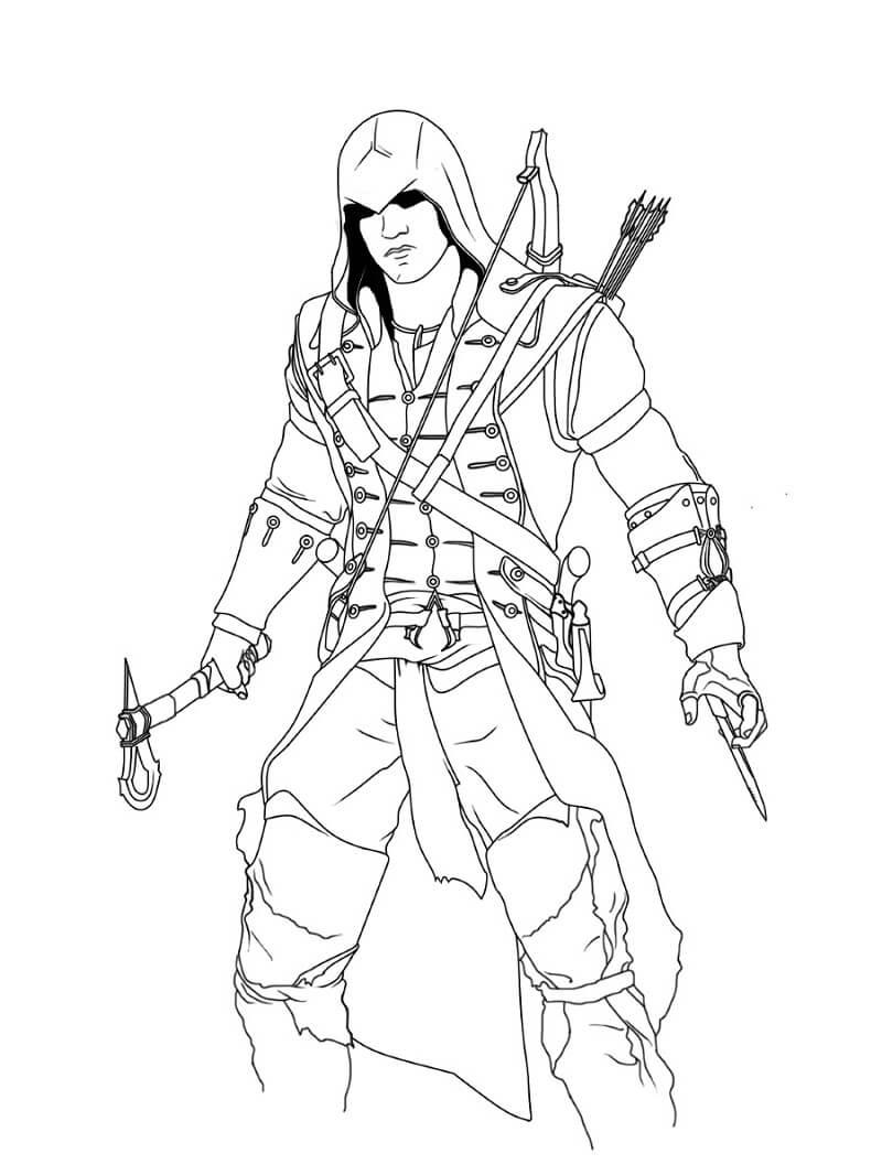 Desenhos de Assassin's Creed 9 para colorir