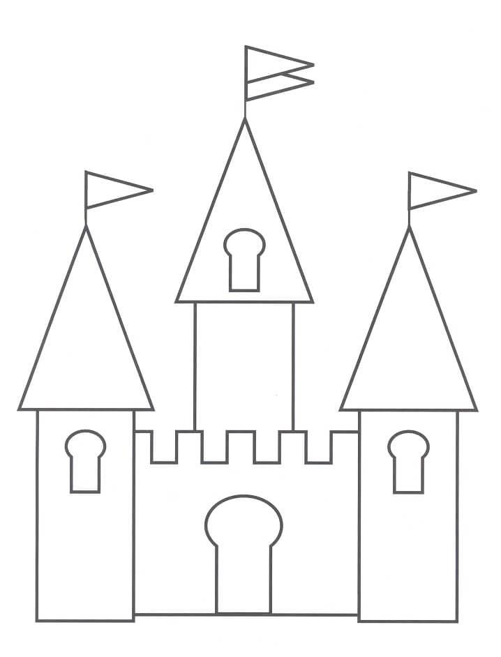 Desenhos de Belo Castelo 1 para colorir