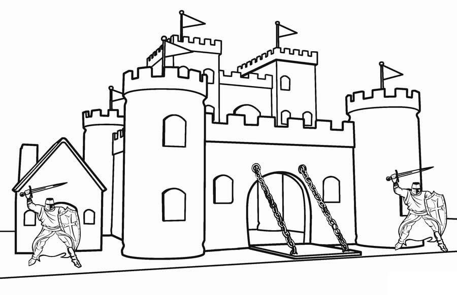 Desenhos de Belo Castelo 2 para colorir