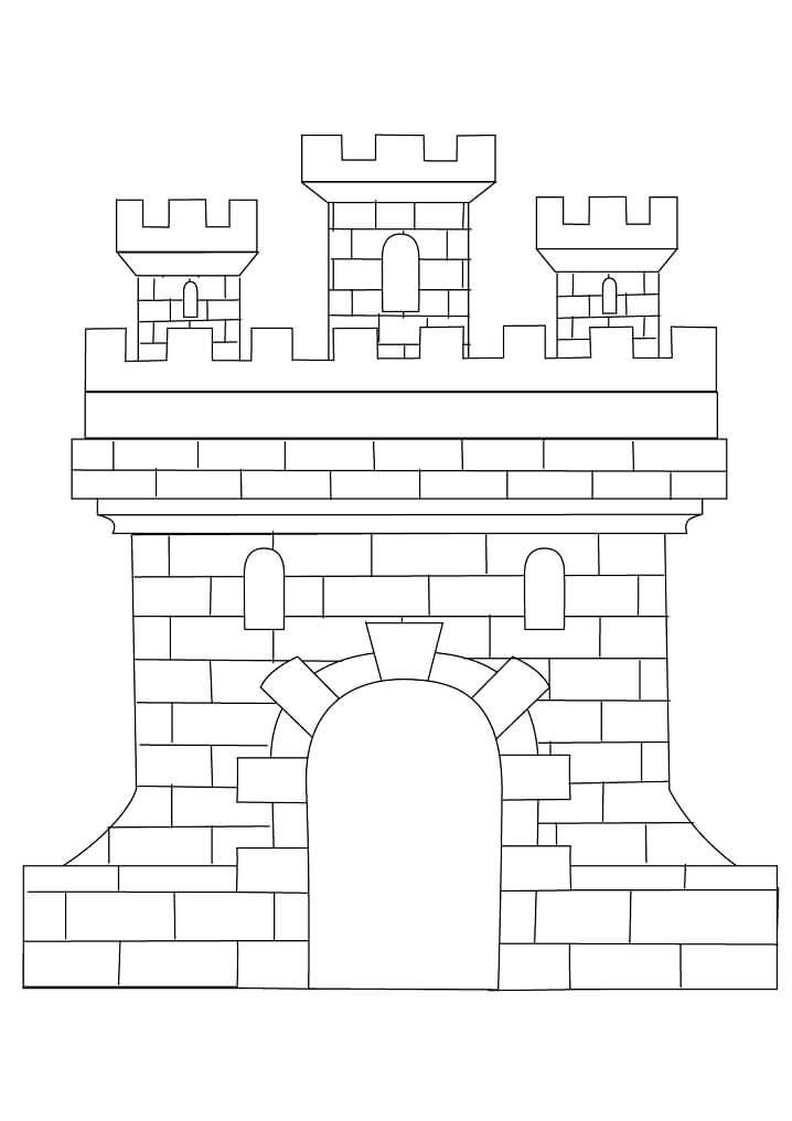 Desenhos de Belo Castelo 4 para colorir