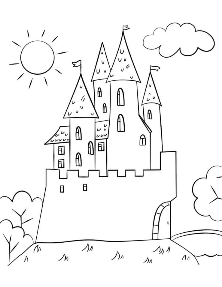 Desenhos de Belo Castelo 5 para colorir