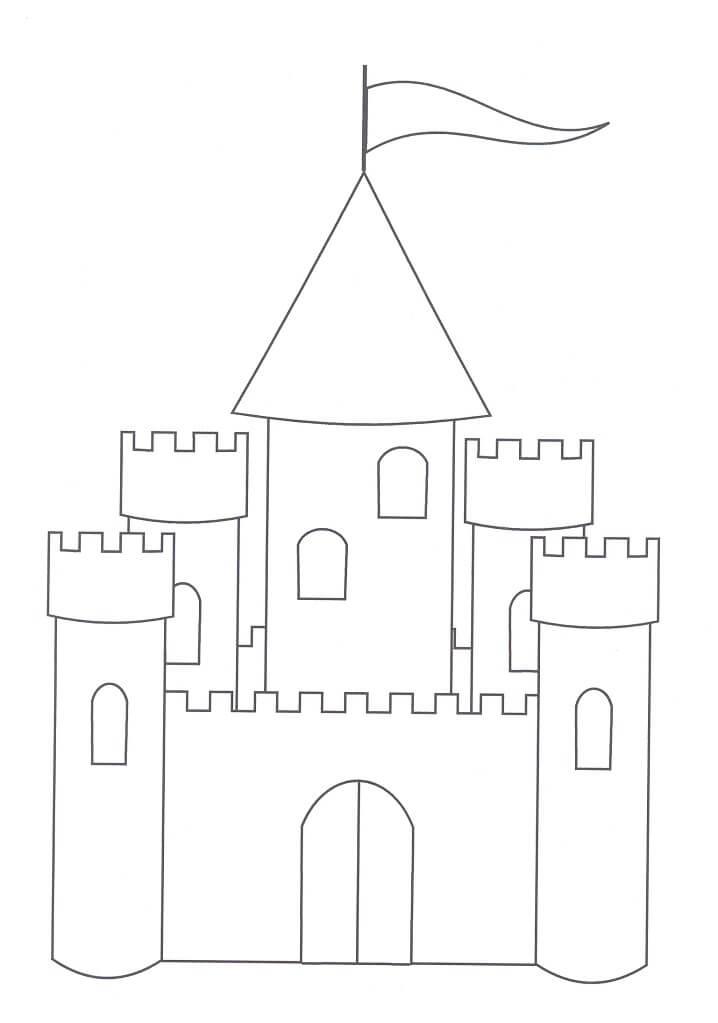 Desenhos de Belo Castelo para colorir