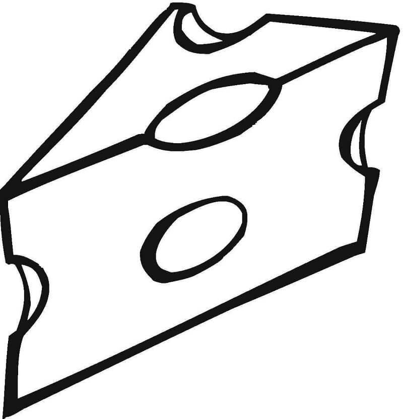Desenhos de Bom Queijo 4 para colorir