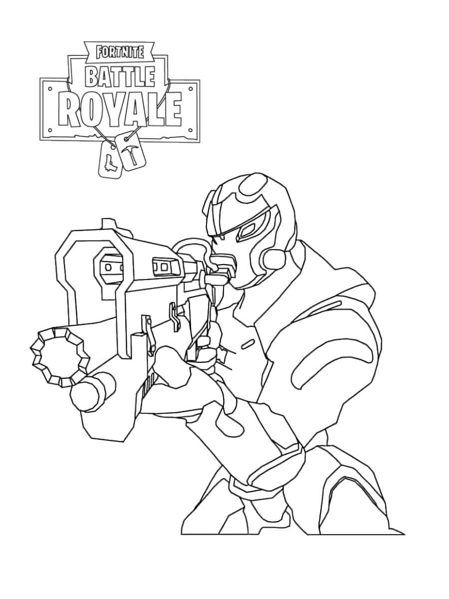 Desenhos de Carbide Fortnite para colorir