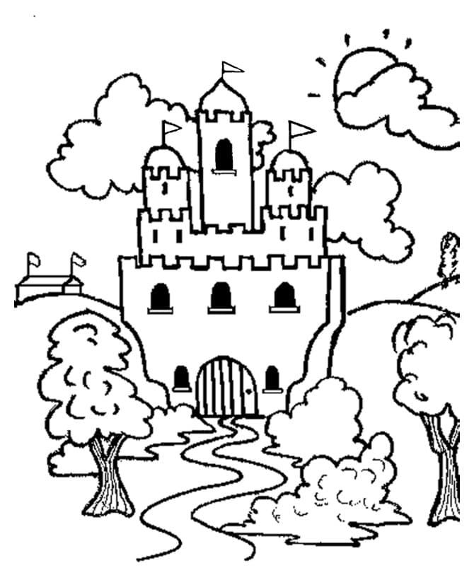 Desenhos de Castelo 1 para colorir