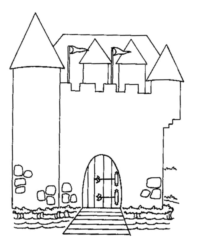 Desenhos de Castelo 2 para colorir