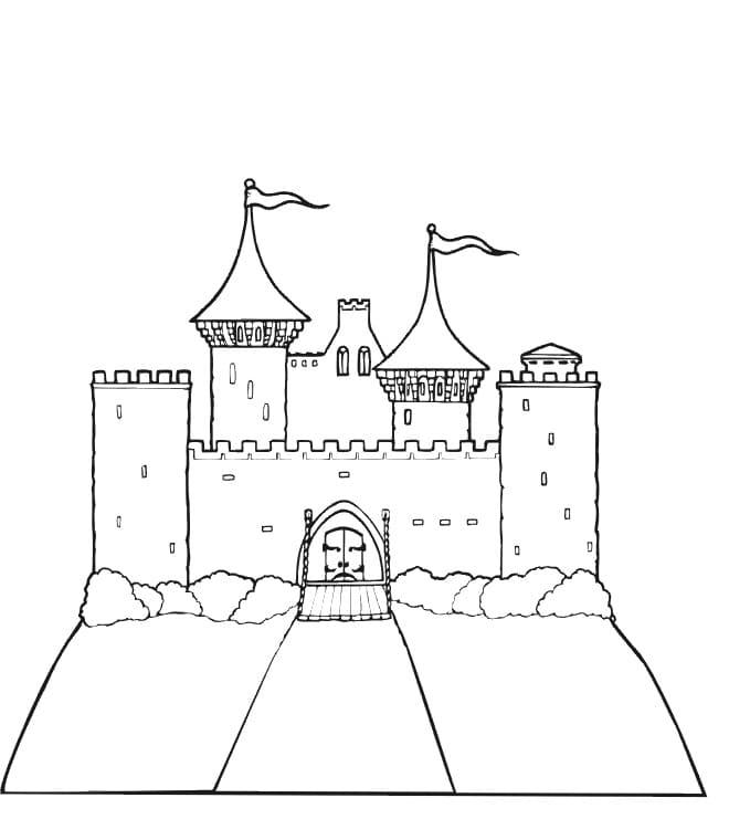 Desenhos de Castelo 3 para colorir