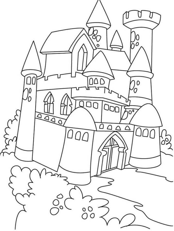 Desenhos de Castelo Incrível 1 para colorir