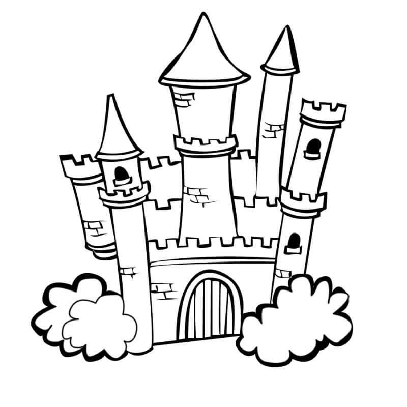 Desenhos de Castelo Incrível 3 para colorir