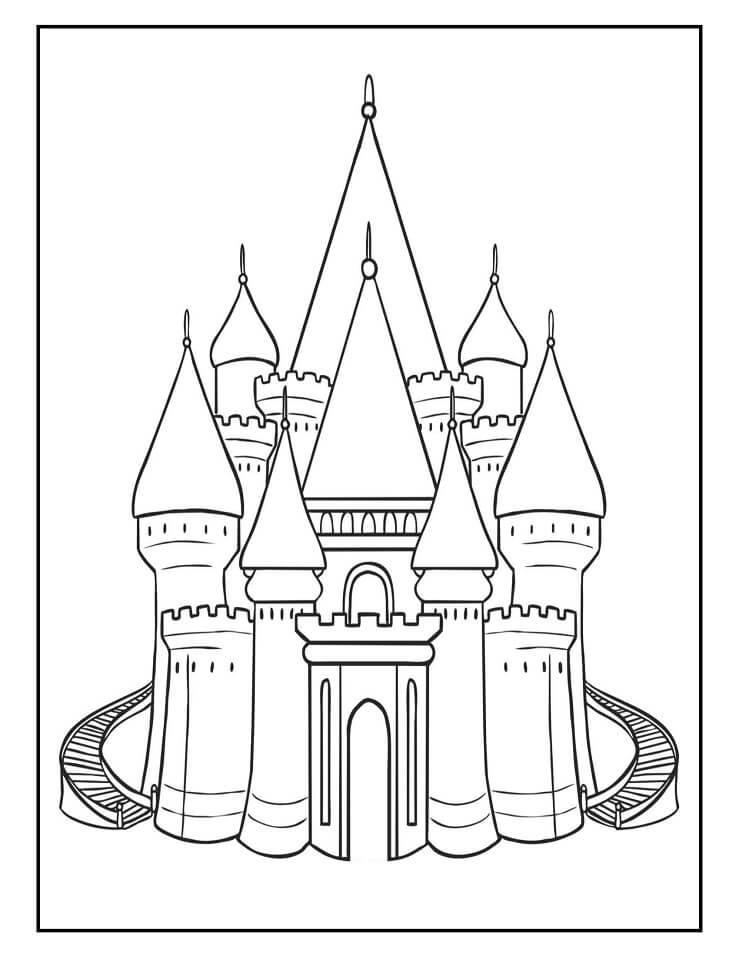 Desenhos de Castelo Incrível 4 para colorir