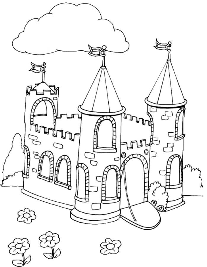 Desenhos de Castelo Incrível 5 para colorir