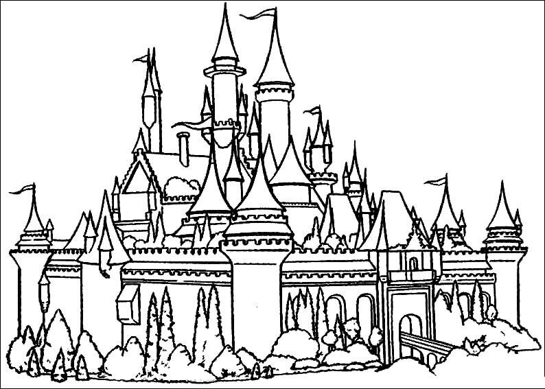 Desenhos de Castelo Incrível para colorir