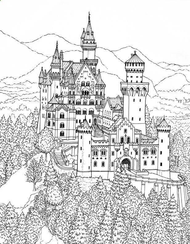 Desenhos de Castelo Legal 1 para colorir