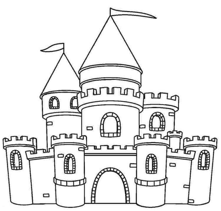 Desenhos de Castelo Legal 2 para colorir