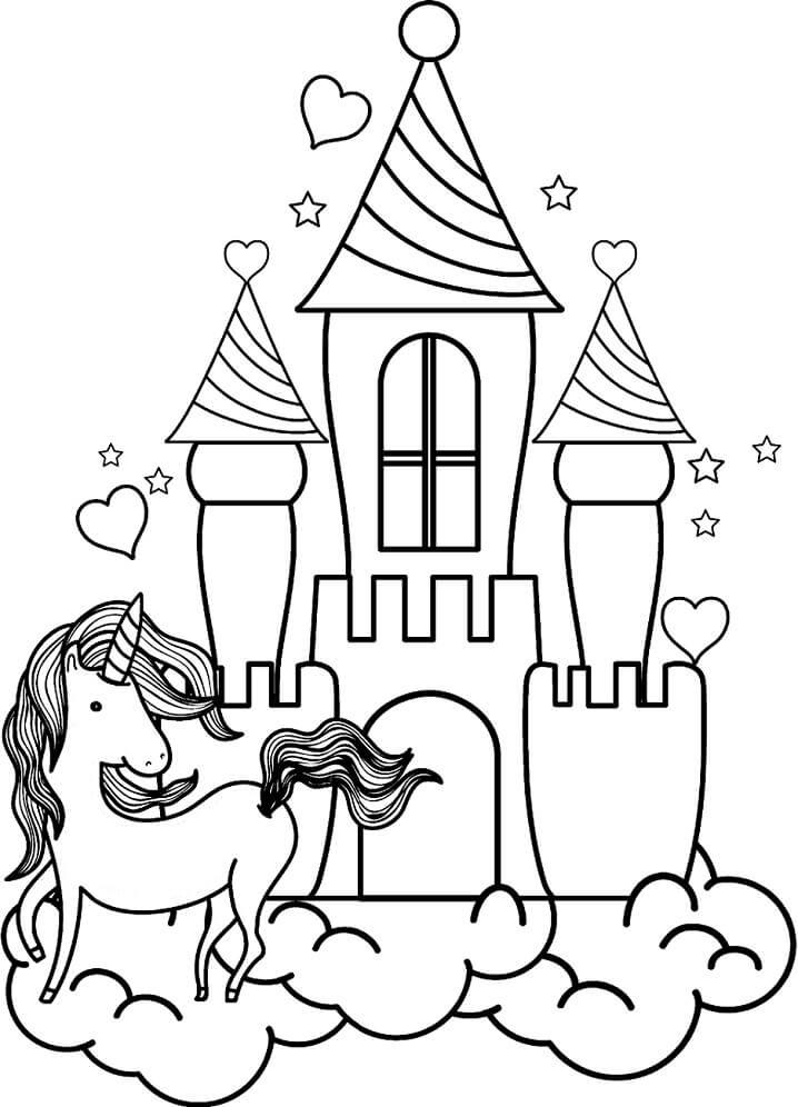 Desenhos de Castelo Legal 3 para colorir