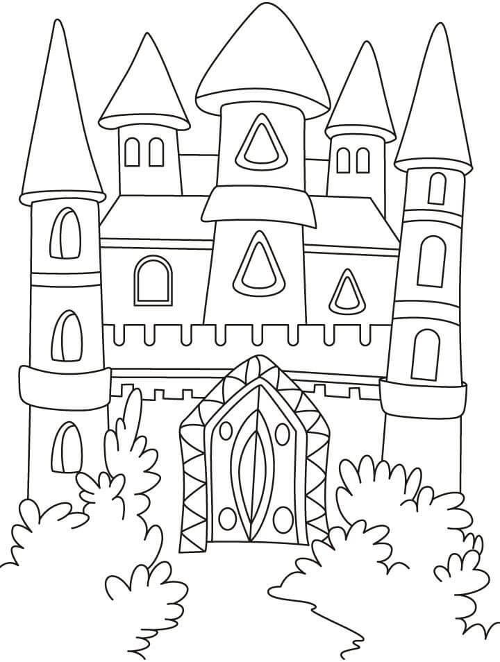 Desenhos de Castelo Legal 4 para colorir