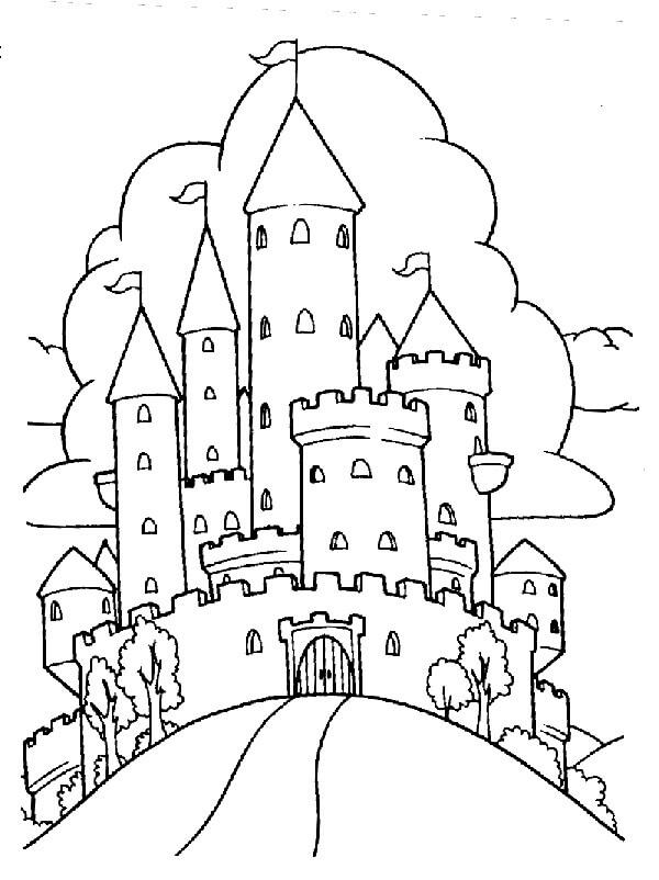 Desenhos de Castelo Legal 5 para colorir