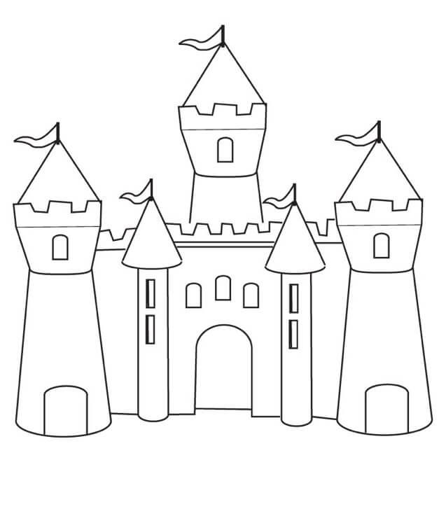 Desenhos de Castelo Legal para colorir