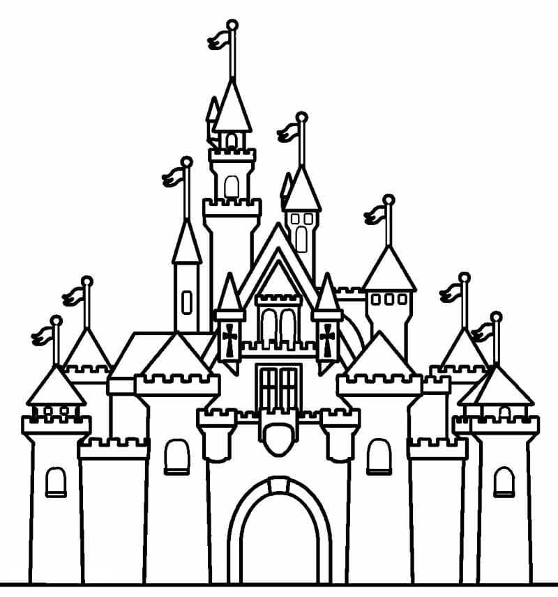 Desenhos de Castelo Normal 1 para colorir