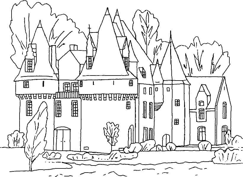 Desenhos de Castelo Normal 2 para colorir