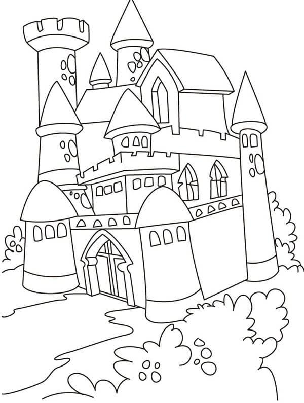 Desenhos de Castelo Normal 3 para colorir