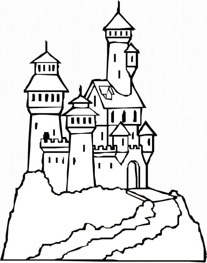 Desenhos de Castelo Normal 4 para colorir