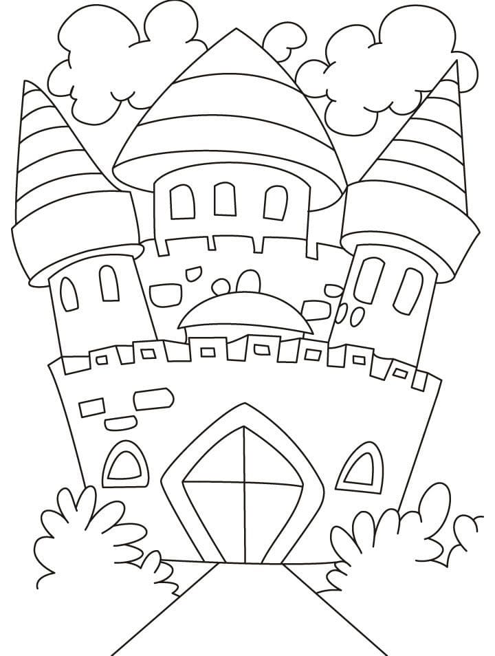 Desenhos de Castelo Normal 5 para colorir