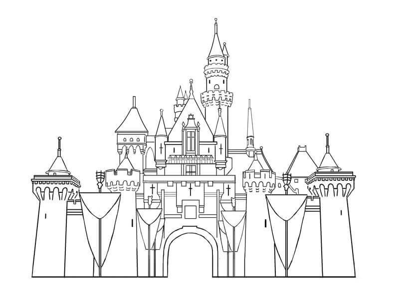 Desenhos de Castelo Normal para colorir