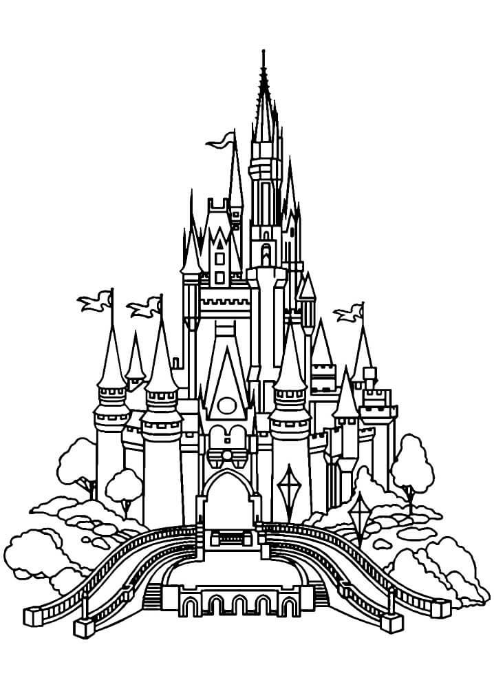 Desenhos de Castelo de Conto de Fadas 2 para colorir