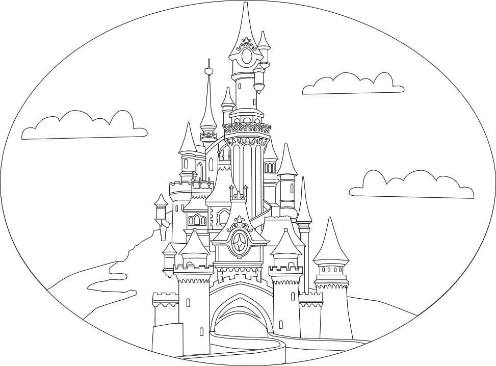 Desenhos de Castelo de Conto de Fadas 3 para colorir