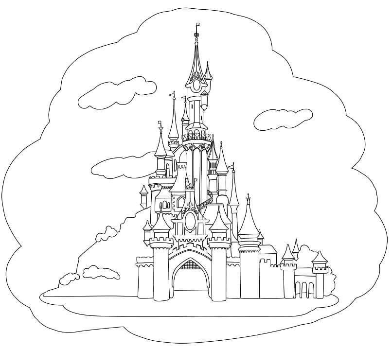 Desenhos de Castelo de Conto de Fadas 4 para colorir
