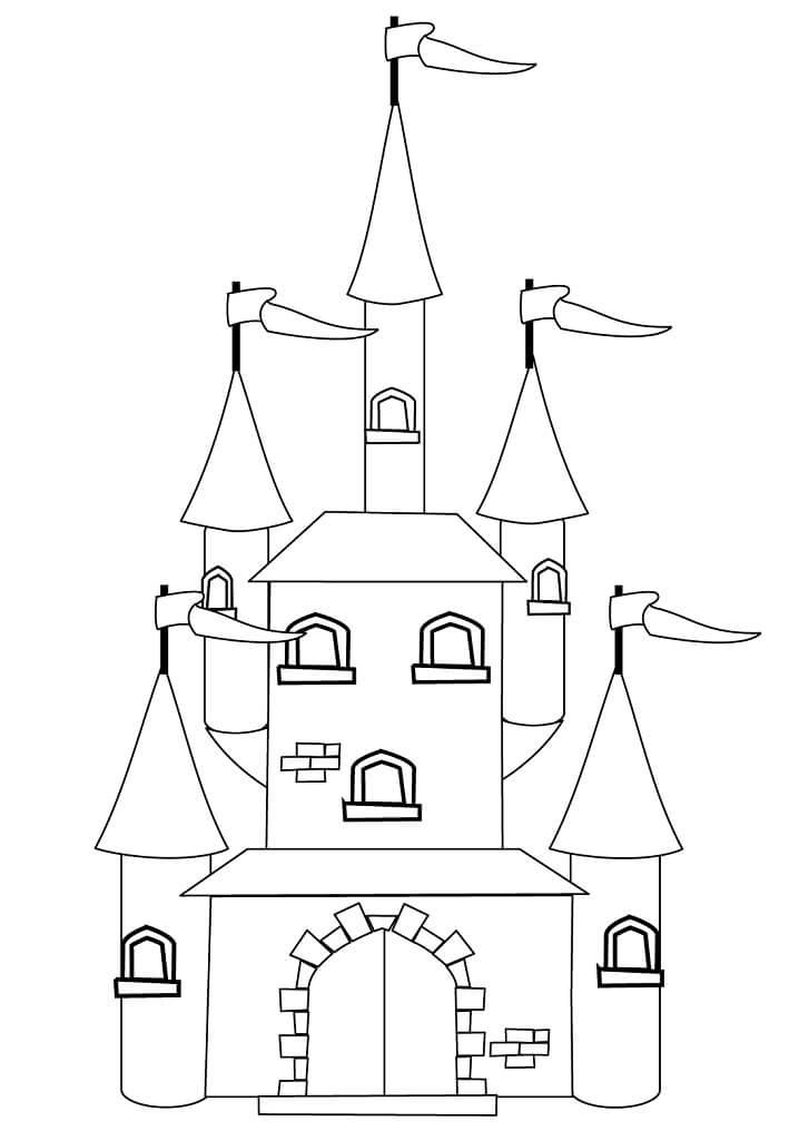 Desenhos de Castelo de Conto de Fadas 5 para colorir